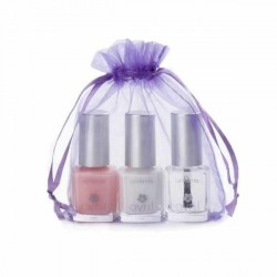 Avril Kit French manucure: Blanc, Rose, 2 en 1 Base + Top coat