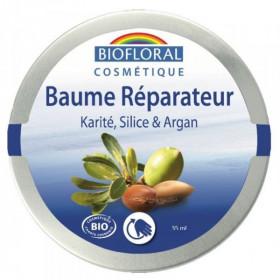 Baume réparateur au beurre de karité bio, Silice, Argan, Cire d'abeille 35ml