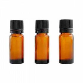 Centifolia - Flacons en verre ambré avec codigouttes (lot de 3) 10 ml