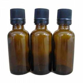 Lot de 3 Flacons compte gouttes verre ambré 30ml