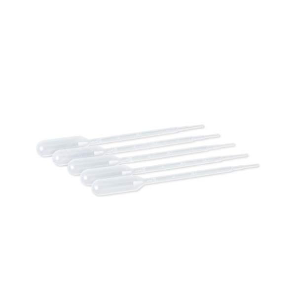 Pipettes pasteur plastique 3ml graduées 0.5 ml