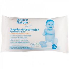 Douce nature - Lingettes Bébé hypoallergéniques bio x40