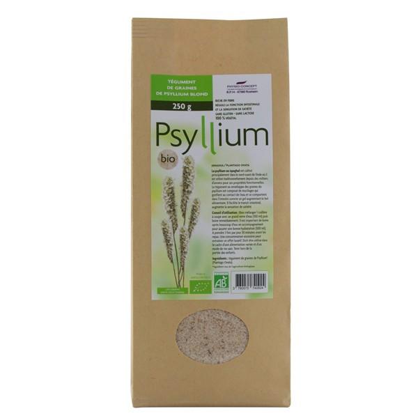 Phytonic Psyllium blond Tégument BIO 200 g Régulateur intestinal
