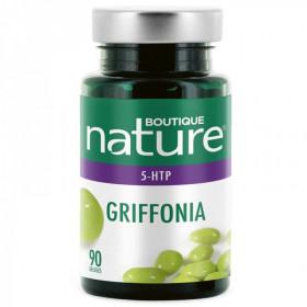 Boutique Nature - GRIFFONIA - Apport en 5-HTP - 90 gélules Troubles de l'humeur - Dépression - Sommeil - Anxiété