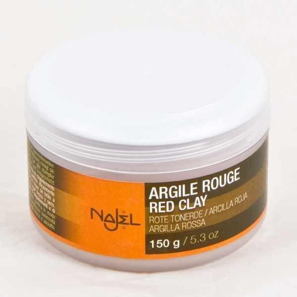 Najel Argile rouge naturelle en poudre pot 150g