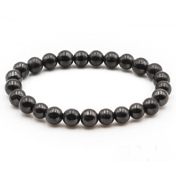 Bracelet Shungite naturelle Boule 08mm