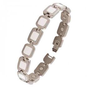 Auris Bracelet magnétique Aphrodite inox Blanc 21cm