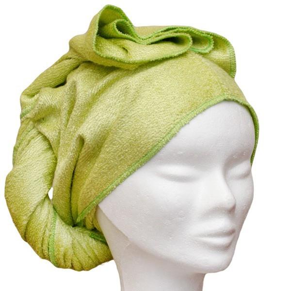 Les Tendances d'Emma Serviette à cheveux en Bambou vert