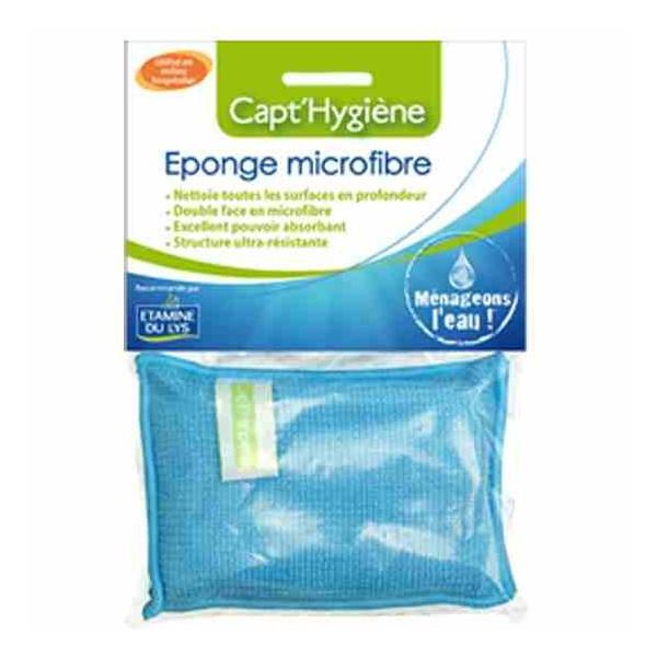 Capt Hygiene - Eponge microfibre lavable toutes surfaces