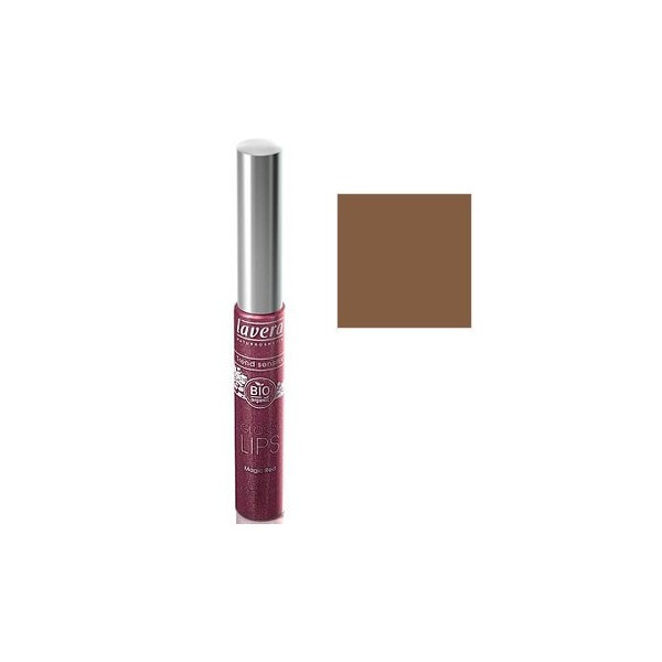 Lavera, Gloss à lèvres marron, Brun sensationnel, maquillage bio, bouche pulpeuse, beauté