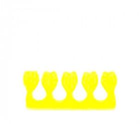 """Séparateurs d'orteils """"petites tulipes"""" jaune"""