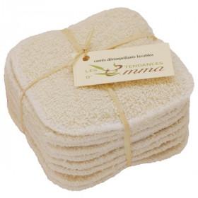 Les Tendances d'Emma Lot de 10 Carrés démaquillants lavables Coton bio biface