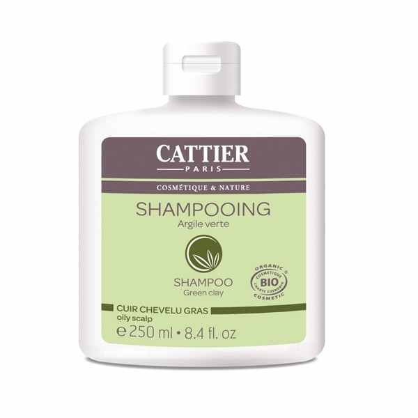 Cattier Shampoing argile verte cheveux gras bio 250ml