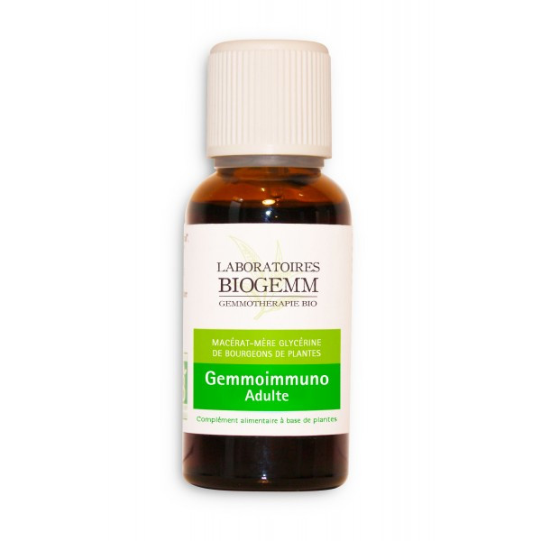 GEMMO IMMUNO ADULTE (aulne glutineux, cassis, noyer) 30ml - Biogemm