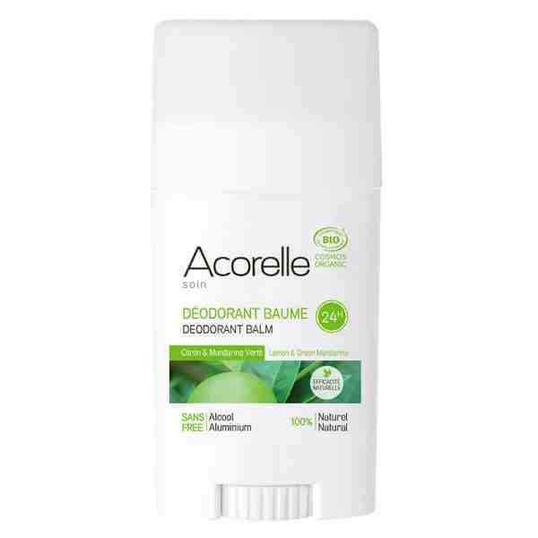Acorelle - Stick Déodorant baume Citron Mandarine verte BIO - 40 g