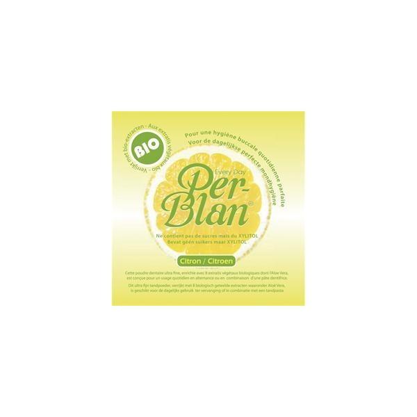 PER BLAN - Poudre dentaire - Dentifrice citron bio