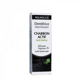 Aquasilice - Dentifrice Blanchissant Charbon actif goût menthe - Dents Blanches 50ml