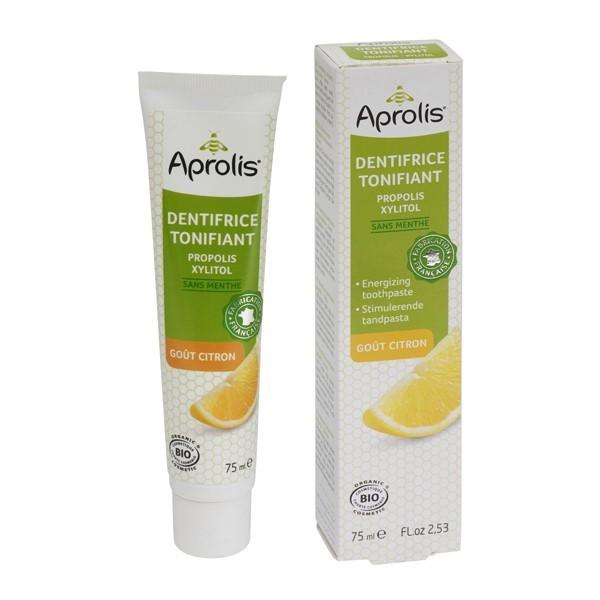 Aprolis - Dentifrice Tonifiant goût citron à la propolis BIO 75ml