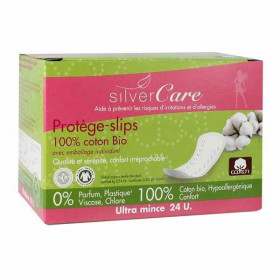 Silver care Protèges slips coton bio emballage individuel x24