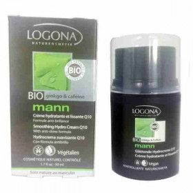 Logona - Crème homme hydratante et lissante Q10 50ml