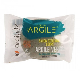 ARGILETZ Savon exfoliant Corps Argile verte Algues bio