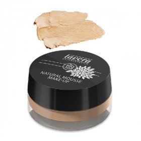 Fond de teint mousse BIO n°03 honey 15g - Lavera