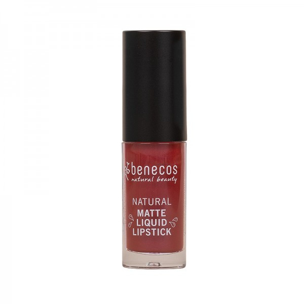 Rouge à lèvres liquide mat baie rouge (bloody berry) BIO 5 ml - Benecos