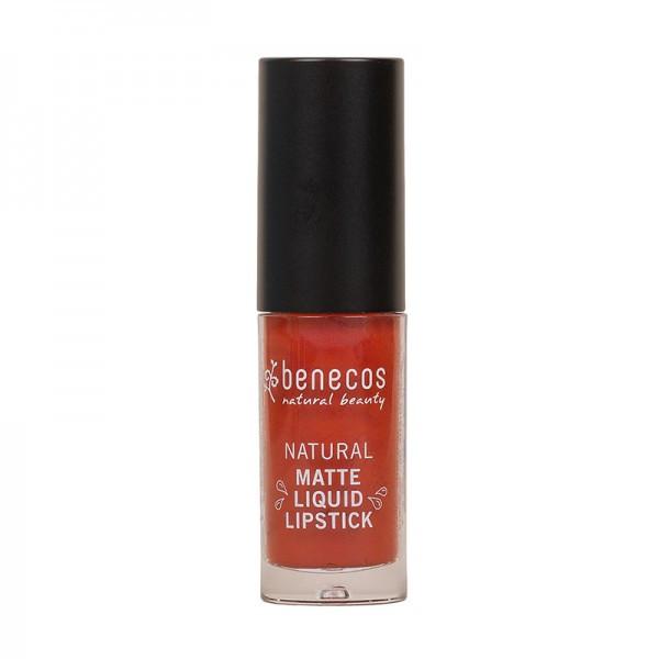 Rouge à lèvres liquide mat rouille (trust in rust) BIO 5ml - Benecos