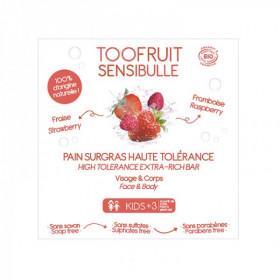 Sensibulle pain dermatologique enfants Fraise Framboise BIO 85 g - Toofruit