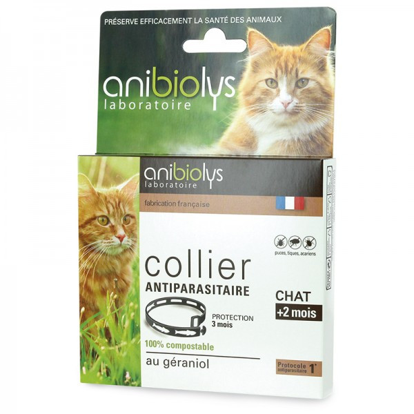 Collier antiparasitaire chat + 2 mois - Anibiolys