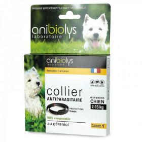 Collier antiparasitaire - Petit et moyen chien 2-15 kg - Anibiolys