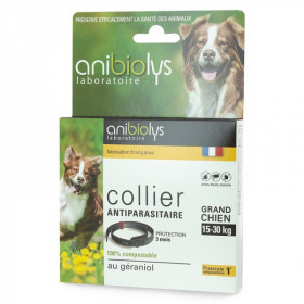 Collier antiparasitaire - Grand chien 15-30 kg - Anibiolys