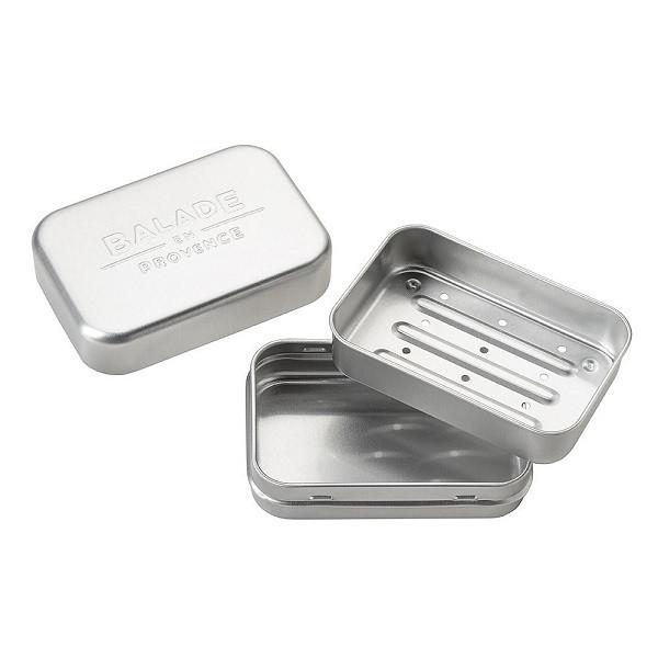 Boîte à savon en aluminium 2 en 1 - Balade en Provence