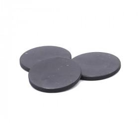 Plaquette Shungite Ronde pour protection ondes Téléphone 30 mm