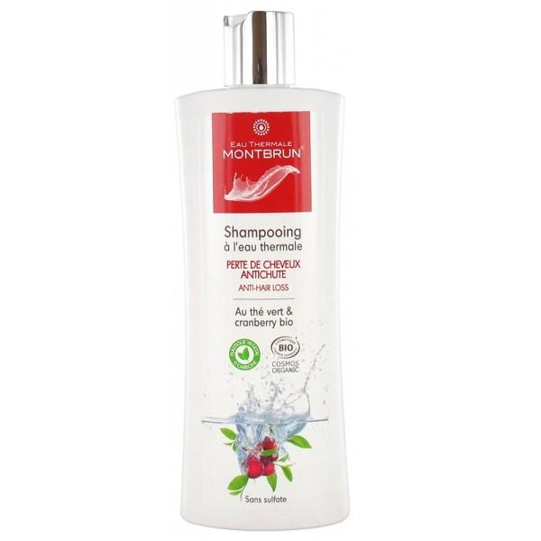 Shampooing à l'eau thermale: Perte de cheveux et antichute BIO 250 ML - Eau thermale Montbrun