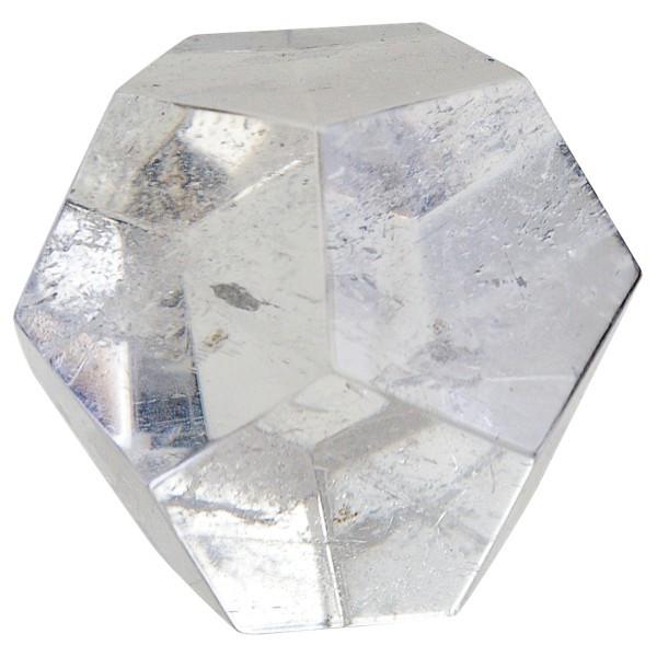 Dodécaèdre en cristal de roche naturel de 4,5 cm de diamètre
