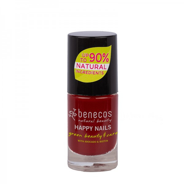 """Benecos Vernis à ongles """"Cherry Red"""" Rouge cerise 9mL"""