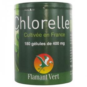 Chlorelle 180 Gélules 400 mg - Flamant Vert