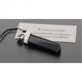 Pendentif Tourmaline Noire Forme pointe