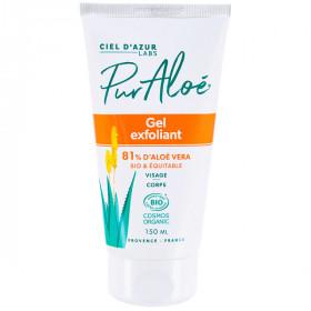 Pur Aloé - Gel exfoliant ou gommage visage et corps BIO 150ml